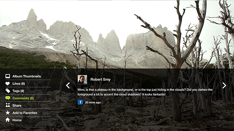 Flickr Connected TV App